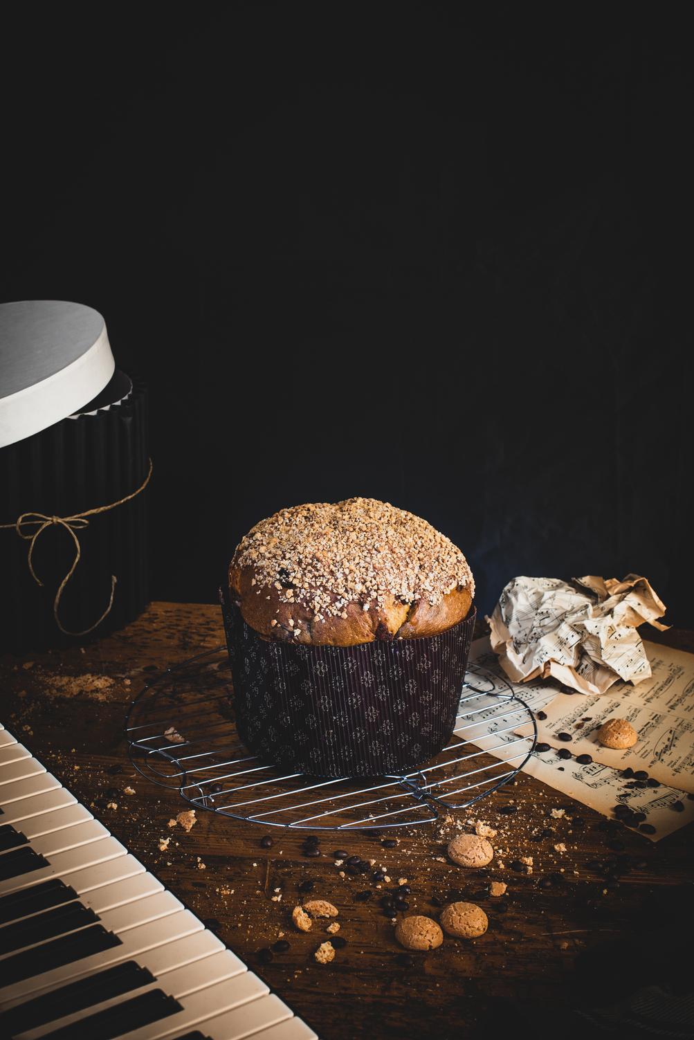 panettone artigianale cioccolato caffe amaretto
