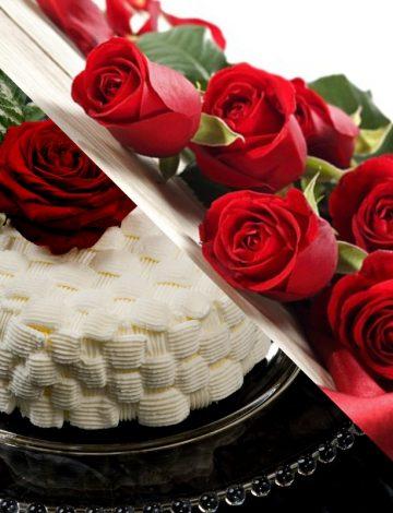 Torta e Bouquet Amore