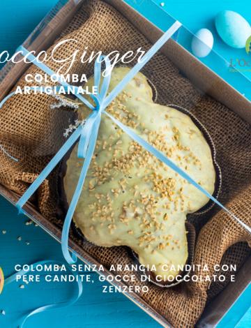 CioccoGinger: colomba con pere, cioccolato fondente e zenzero candito