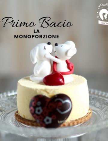 """Monoporzione """"Primo Bacio"""": cioccolato bianco, lime e camomilla"""