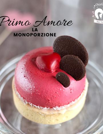 """Monoporzione """"Primo Amore"""": tart al limone, fragolina e cioccolato fondente Araguani 72%"""